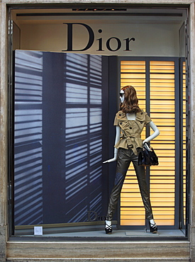 Fashion shop, Dior, Via Condotti, Rome, Italy, Europe