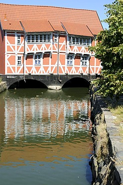 "Half-timbered house called ""Gewoelbe"", Wismar, Mecklenburg-Western Pomerania, Germany, Europe"
