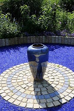 Blue vase, Arboretum, Ellerhoop, Schleswig-Holstein, Germany, Europe