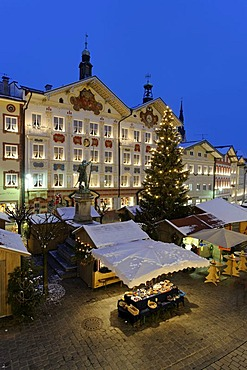 Christmas market, Bad Toelz, Upper Bavaria, Germany, Europe
