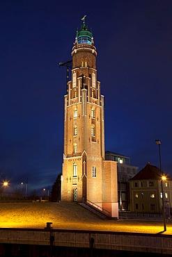 Simon-Loschen Lighthouse, Neuer Hafen Harbor, Bremerhaven, Bremen, Germany, Europe
