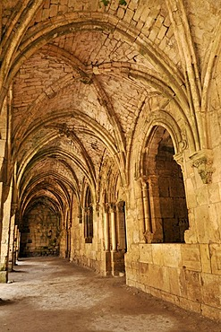 Gothic loggia in the Crusader fortress Crac, Krak des Chavaliers, Qalaat al Husn, Hisn, Syria, Middle East, West Asia