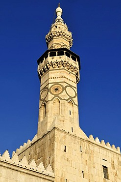 Minaret of the Umayyad Mosque at Damascus, Unesco World Heritage Site, Syria, Middle East, West Asia