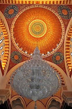 Detail of the dome of the Khatem al-Anbiyaa Mosque, Beirut, Lebanon, Middle East, Orient