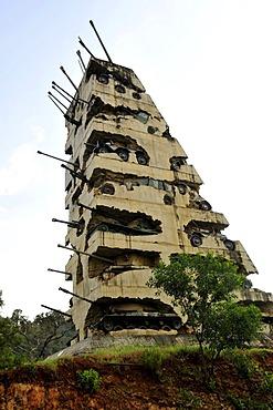 Tank Monument, commemorating the Lebanese Civil War 1975-1990, Beirut, Lebanon, Middle East, Asia
