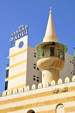Minaret in the historic centre of Beirut, Lebanon, Middle East, Asia