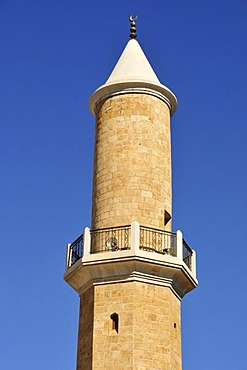 Minaret of the Tabbara Mosque at the Jardin Rene Mouawad, Beirut, Lebanon, Middle East, Asia