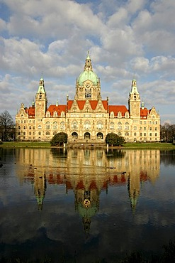 Neues Rathaus, new town hall, Hanover, Lower Saxony, Germany, Europe
