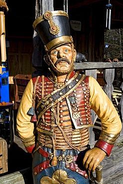 Figure of a Russian soldier in historical uniform, Park Modo Verde, Landgraaf, Limburg, Netherlands, Europe