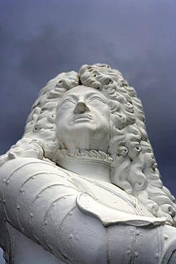 Elector Ernst August, sculpture, Herrenhausen Gardens, Hannover, Lower Saxony, Germany, Europe
