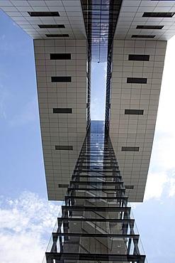 The Kranhaeuser buildings on Rheinau port, Cologne, North Rhine-Westphalia, Germany, Europe