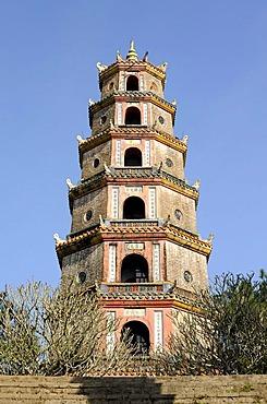 Phuoc Duyen Tower, Thien Mu Pagoda, Hue, North Vietnam, Vietnam, Southeast Asia, Asia