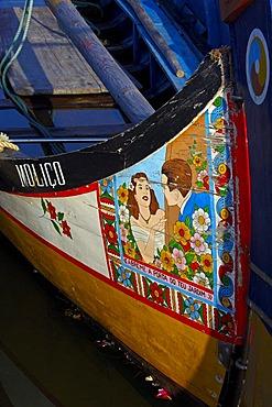 "Traditional boat ""Moliceiro"", Canal central, Aveiro, Beiras region, Portugal, Europe"