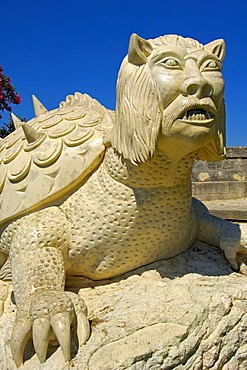 La Tarasque, medieval monster, Tarascon, Bouches-du-Rhone, Provence, France, Europe