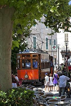 Tram in Soller, Majorca, Balearic Islands, Spain, Europe