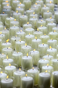 Many white candles