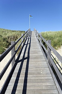 Cordwood bridgeway across the dunes, Zoutelande, Walcheren peninsula, Zeeland province, Netherlands, Benelux, Europe