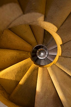 Spiral staircase, Sagrada Familia, Barcelona, Catalonia, Spain, Europe