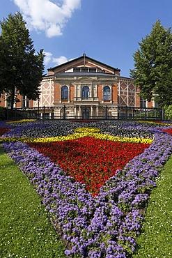 Bayreuth Festspielhaus opera house, Bayreuth, Upper Franconia, Franconia, Bavaria, Germany, Europe