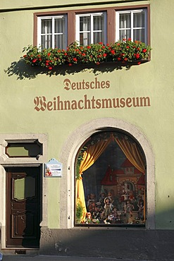 Deutsches Weihnachtsmuseum, German Christmas museum, Rothenburg ob der Tauber, Romantic Road, Middle Franconia, Franconia, Bavaria, Germany, Europe