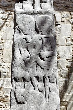 High cross, Kilfenora Cathedral, Burren, County Clare, Ireland, Europe