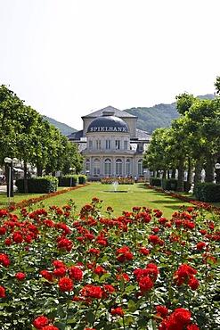 Casino and Kurhaus, spa resort in Kurpark, spa park, Bad Ems, Rhineland-Palatinate, Germany, Europe