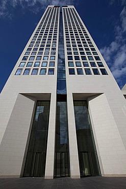 OpernTurm tower, developed by Tishman Speyer Property, Westend, Frankfurt am Main, Hesse, Germany, Europe