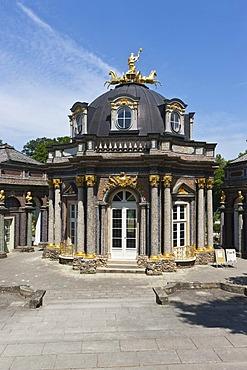 New Castle and Orangery, Eremitage in Bayreuth, Upper Franconia, Franconia, Bavaria, Germany, Europe