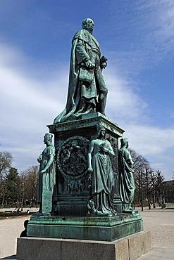 Monument to Grand Duke Karl Friedrich of Baden, 1728-1811, Schlossplatz square, Karlsruhe Baden-Wuerttemberg, Germany, Europe