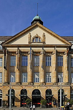 Facade of the former main post office, built in 1920, today Post Galerie Shopping Mall, Kaiserstrasse 217, Karlsruhe, Baden-Wuerttemberg, Germany, Europe