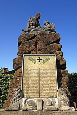 War memorial for the Second World War, Kruen, Upper Bavaria, Bavaria, Germany, Europe