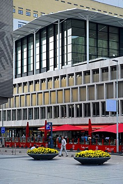 Modern architecture, De Doelen concert and congress building at the Schouwburgplein square, Rotterdam, Zuid-Holland, South-Holland, Netherlands, Europe