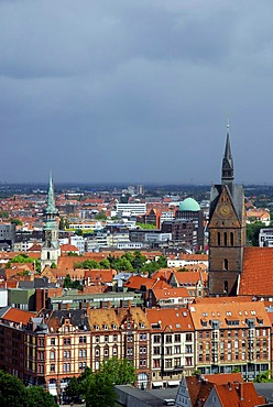 City view with the Marktkirche church in the old town, Hannover, Lower Saxony, Germany, Europe