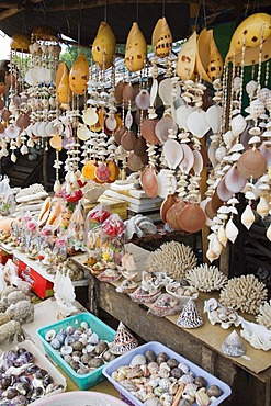 Shell souvenirs, Sokha Beach, Sihanoukville, Cambodia, Indochina, Southeast Asia