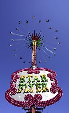 Star Flyer fun ride, Oktoberfest, Munich, Upper Bavaria, Bavaria, Germany, Europe