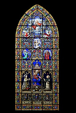 Church window, church of Saint-Sulpice, Fougeres, Ille-et-Vilaine, Region Bretagne, France, Europe