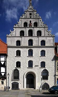 Gewandhaus building on Altstadtmarkt square, Braunschweig, Brunswick, Lower Saxony, Germany, Europe