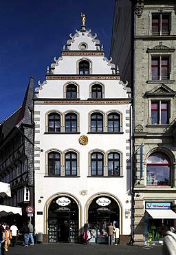 Haus zur Rose building on Kohlmarkt square, Braunschweig, Brunswick, Lower Saxony, Germany, Europe