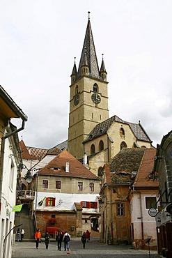 Protestant church in Sibiu, Romania, Europe