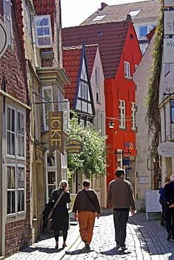 Schnoorviertel quarter, Bremen, Germany, Europe