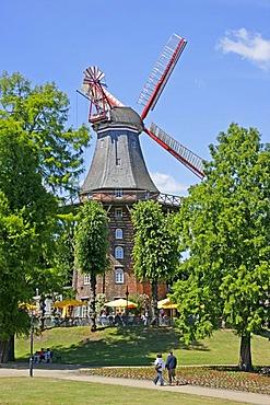 Windmill, am Wall street, Bremen, Germany, Europe