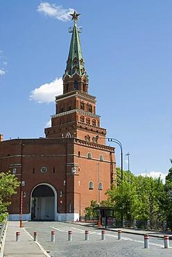 Borovitskaya Tower, Moscow Kremlin, Moscow, Russia