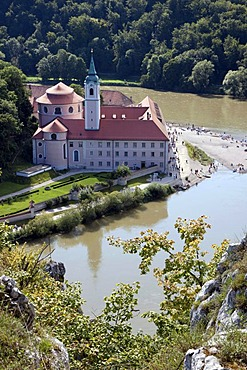 Weltenburg Abbey, Weltenburg, Kelheim, Lower Bavaria, Bavaria, Germany, Europe