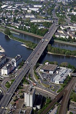 Aerial photo, Europe Bridge, Koblenz, Rhineland-Palatinate, Germany, Europe
