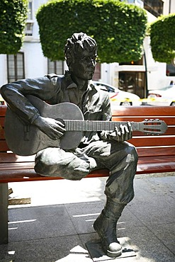 John Lennon statue, Almeria, Andalucia, Southern Spain, Spain, Europe