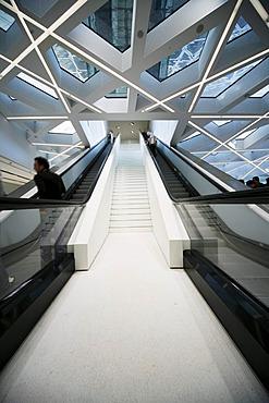 Foyer, entrance area, Porsche Museum, Stuttgart, Baden-Wuerttemberg, Germany, Europe