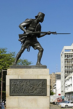 Askari Monument reminds of the Tanzanian soldiers who died in action during World War I, Dar es Salaam, Tanzania, Africa