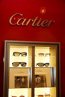 Sunglasses, Cartier shop, Munich, Bavaria, Germany, Europe