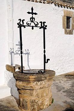 Old well, Ermita del Popul, chapel, church, Javea, Costa Blanca, Alicante province, Spain, Europe