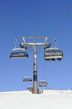 Skilift on Mt Feldberg, southern Black Forest, Baden-Wuerttemberg, Germany, Europe